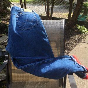 Men's lined jeans by Wrangler nwot
